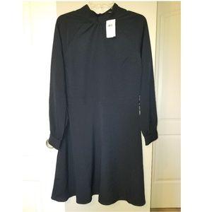 Banana Republic Mock Neck Fit & Flare Dress 6 v257